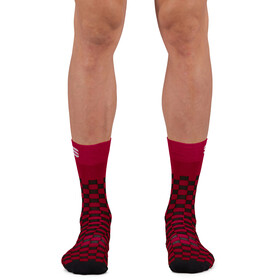 Sportful Checkmate Socks, red rumba black
